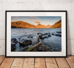 Lake District Landscape Photography, Wastwater, Sunset, Cumbria, England. Landscape Photo. Mounted print. Wall Art.