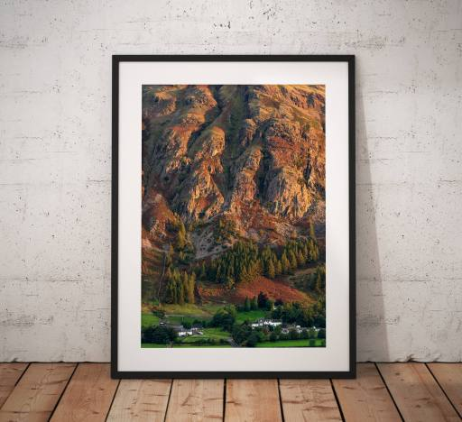 Mountain Photography, Great Langdales, Old Dungeon Ghyll, Great Langdale, Lake District, Nature, Rock climbing, England. Landscape Photo.