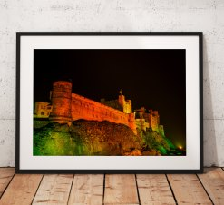 Northumberland Landscape Photography, Bamburgh Castle , England. Landscape Photo. Mounted print. Wall Art.