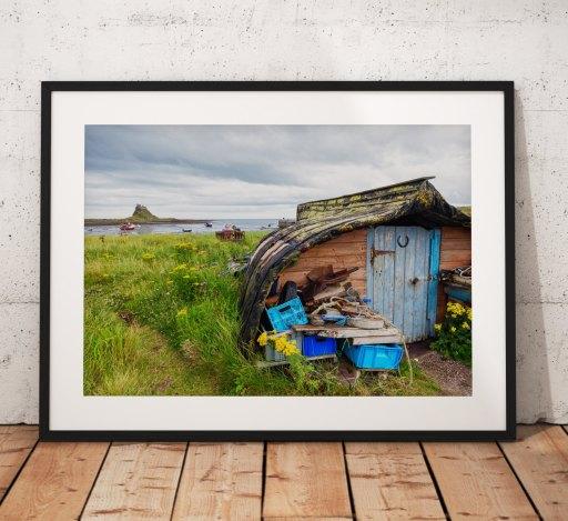 Northumberland Landscape photography, Land art. Holy island, Coast, Seascape, Stones, England. Landscape Photo. Mounted print. Wall Art.