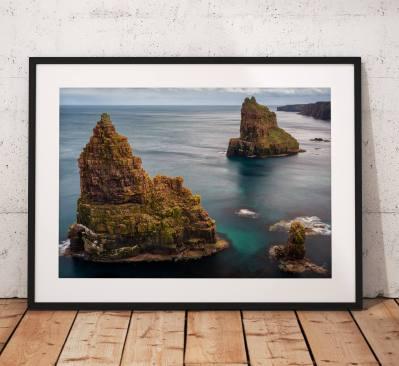 Scotland Landscape photo, Duncansby Stacks, John o Groats, Scotland, Scottish Highlands, Seascape, Nature, Cliffs, Wall Art, House Decor