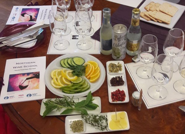 Gin Tasting Manchester with Botanicals and Mixers