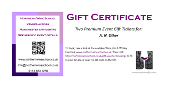 A personalised Gift Voucher made for you Wine Tasting Manchester