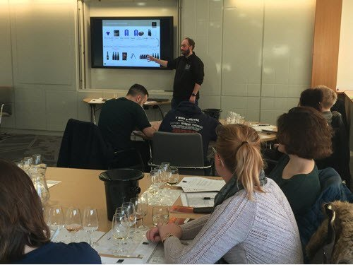 John Teaching Champagne Bureau Masterclass at Sheffield Hallam University