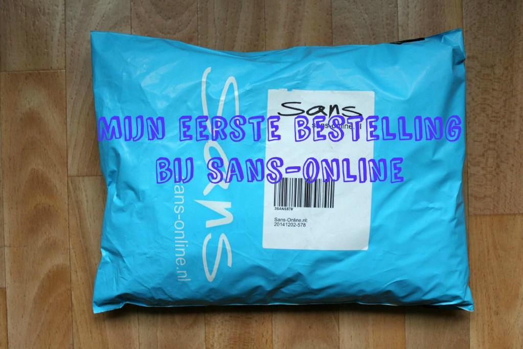 Mijn eerste bestelling bij Sans-online