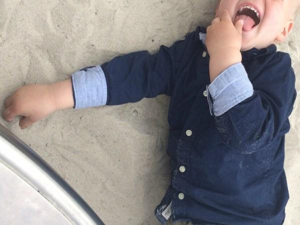 zand eten speeltuin