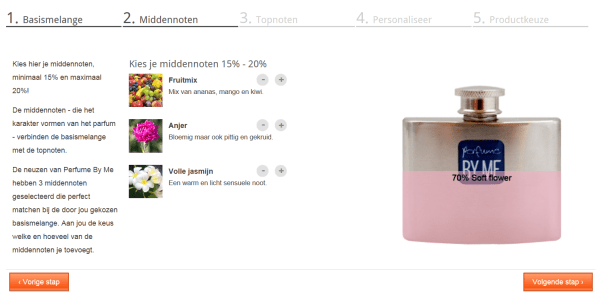 perfume by me review stap 2 middennoten