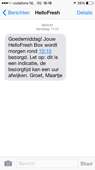 hello fresh sms