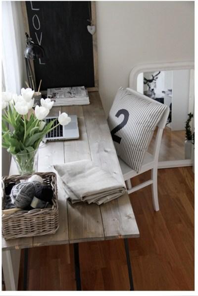 landelijk houten bureau