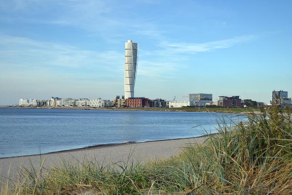 Afbeelding gedraaide toren van Malmö