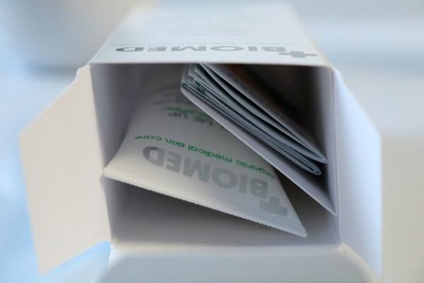biomed skin care review peel me up verpakking
