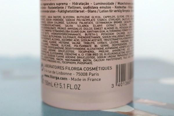 review ervaring filorga NCTF-ESSENCE® VOORBEREIDENDE LOTION ingredienten