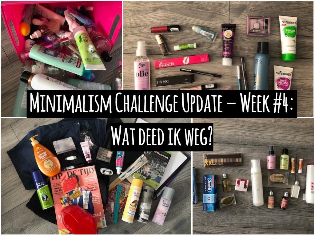 Minimalism Challenge Update – Week #4: Wat deed ik weg?