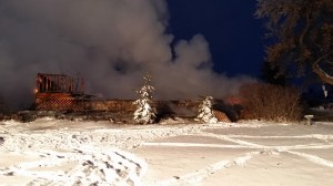 """A fire destroyed this house at 13220 CR 74E on Dec. 6. Photo by Lawrence """"Bear"""" Beals"""