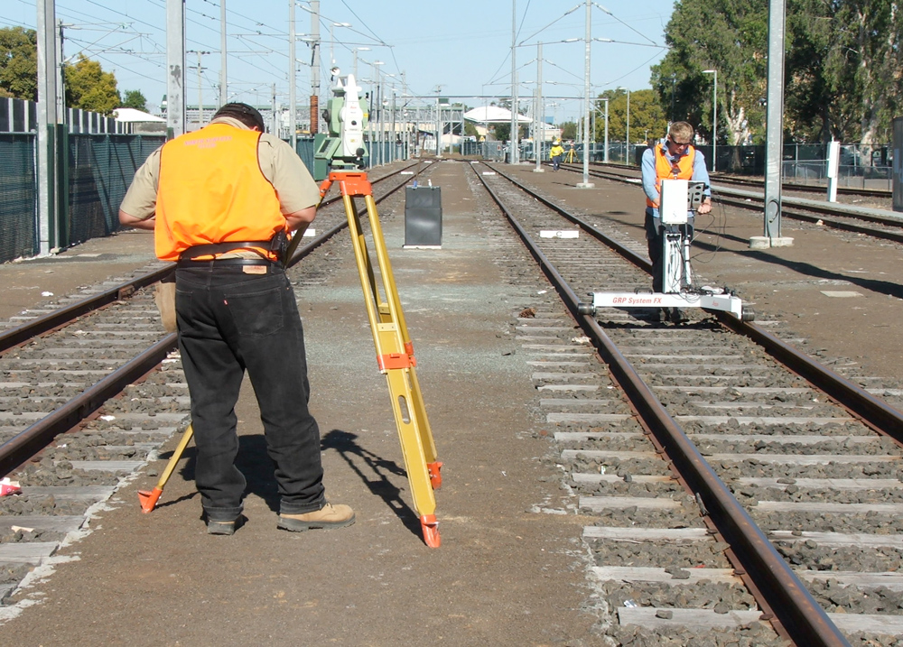 Image result for surveying on rail track