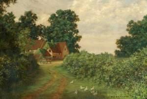 Hooks Green Farm, Clothall by Alfred J Bamford