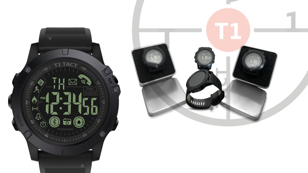 T1 Tact Watch Co.'s Tactical Smartwatch, the Midnight Diamond & Its Tin Box