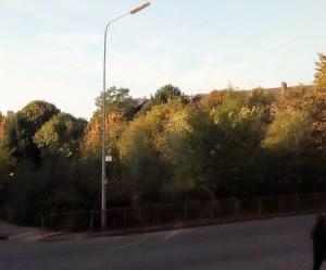 street corner location of proposed flats