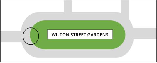 Wilton Street Gardens map