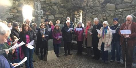 Worshipping inside Keills chapel