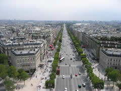 Down the Champs Elysee