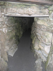Inside the cairn