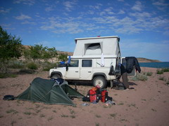 Campsite with Overlanders