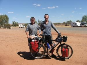With Dad at Barrow Creek