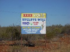 Wycliffe Well sign