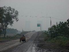 Chinese road pollution