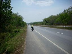 Nic riding downhill