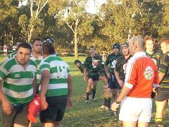 Jackson playing rugby