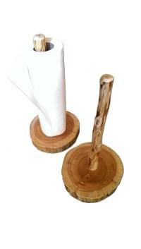 Log Free Standing Paper Towel Holder | White Cedar | Barnwood