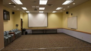 Meeting room 1 projector screen