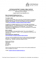 CDC PUBLIC NOTICE Northleach