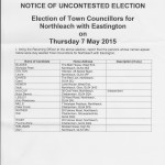 uncontested election