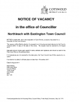 Northleach Councillor Vancancy 09082017