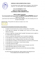 Agenda Annual Town Meeting 23rd May 2018