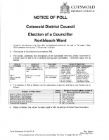 Northleach Ward Notice of Poll – 2nd May 2019