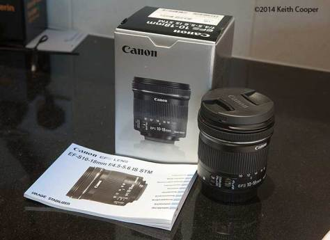 Canon 10-18mm lens and box