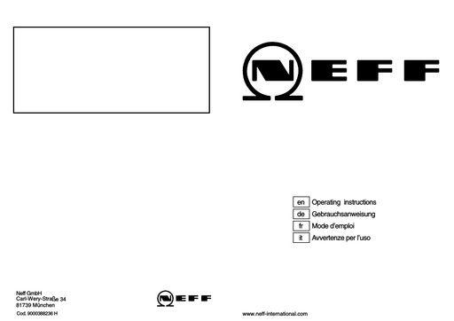 Neff Sd6p1f Bedienungsanleitung