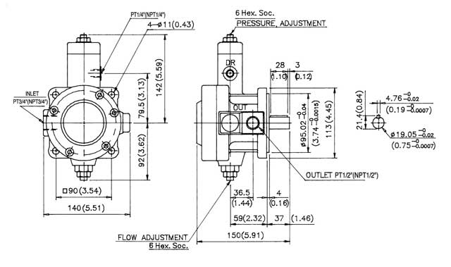 Variable Volume, Pressure Compensated Vane Pumps