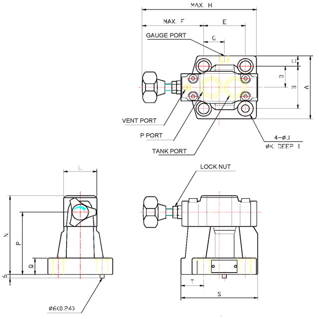 HRFG-06 Low Noise Pilot Operated Relief Valve