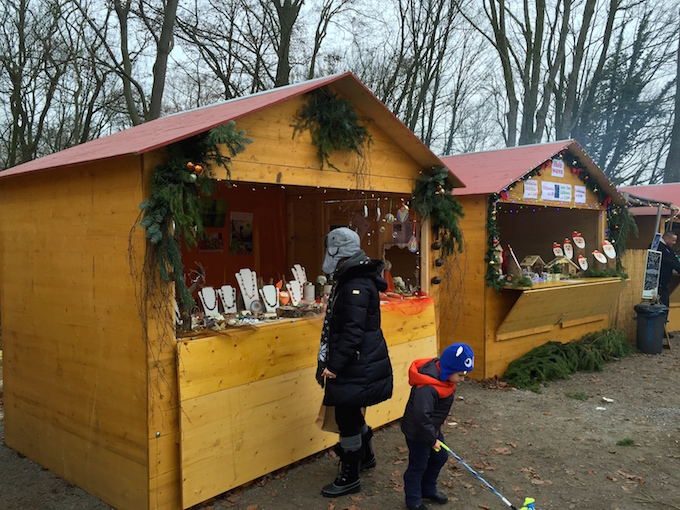 German Christmas Market Booths
