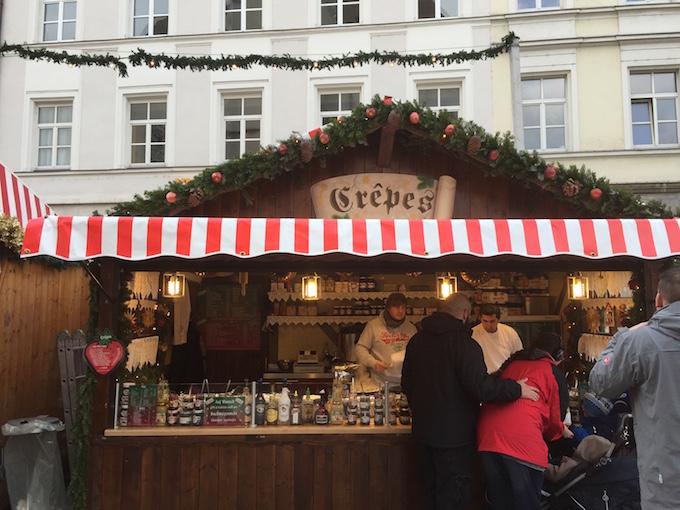 Regensburg crepes stand