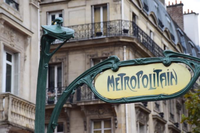 Metro Stop near Notre Dame