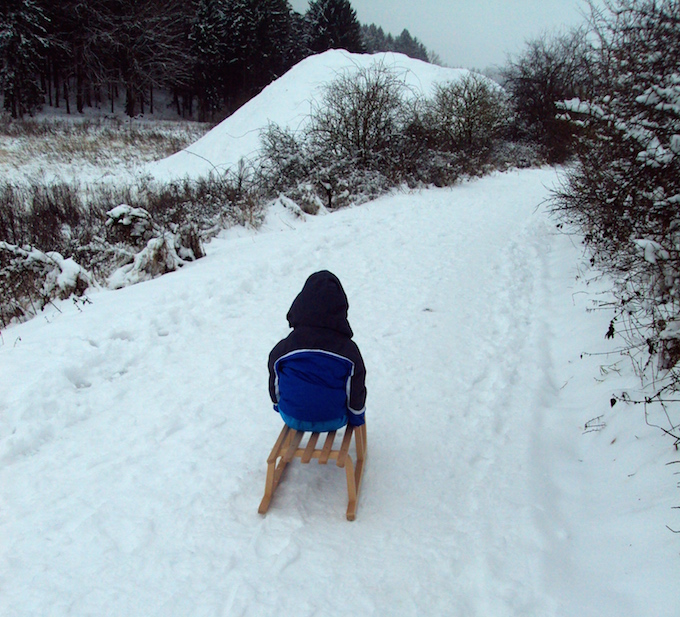 sledding in germany