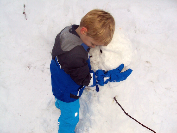 winter germany snowman