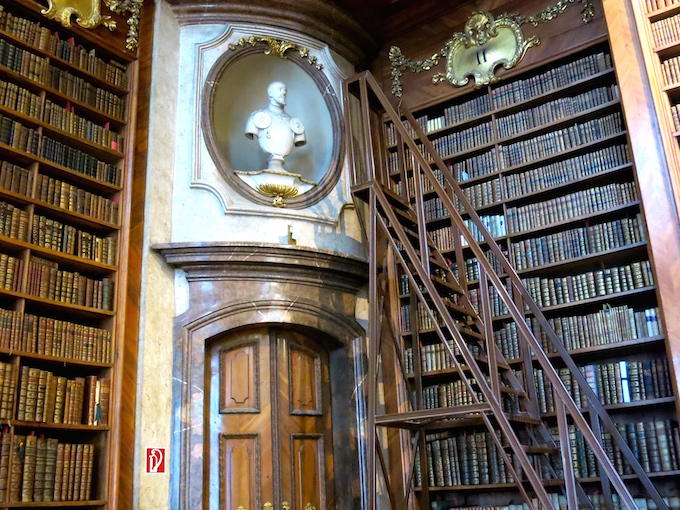 Austrian National Library Sculpture and Bookshelves