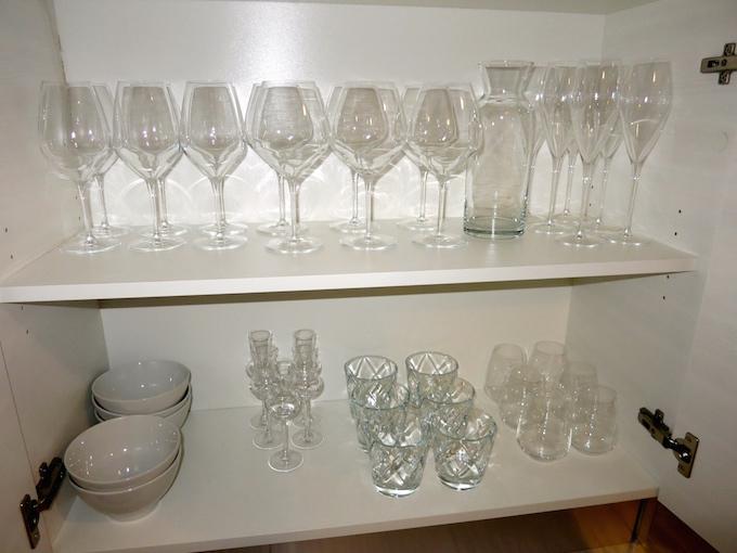 Residence Ca' degli Antichi Giardini Wine Glasses